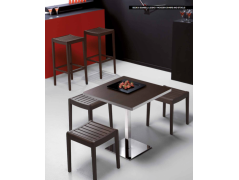 hokery HOKER DREWNIANY PARTY  G/1682 MEBLE DO PUBU H 80 CM CONNUBIA BY CALLIGARIS- IMPORT WŁOCHY